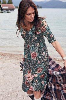 Urban Printed Midi Dress - 256001