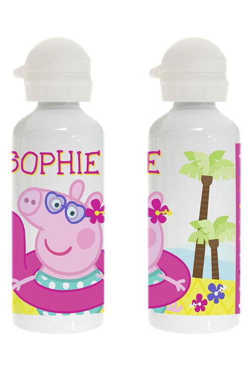 Personalised Peppa Pig Summer Fun Stainless Steel Drink Bottle
