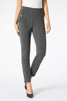 Panelled Slim Leg Ponte Pant - 256020