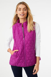 Sleeveless Quilted Puffer Vest - 256021