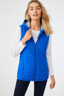 Jersey Lined Puffer Vest - 256023