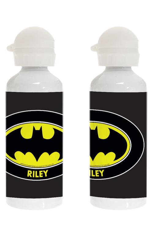 Personalised Batman Logo Stainless Steel Drink Bottle