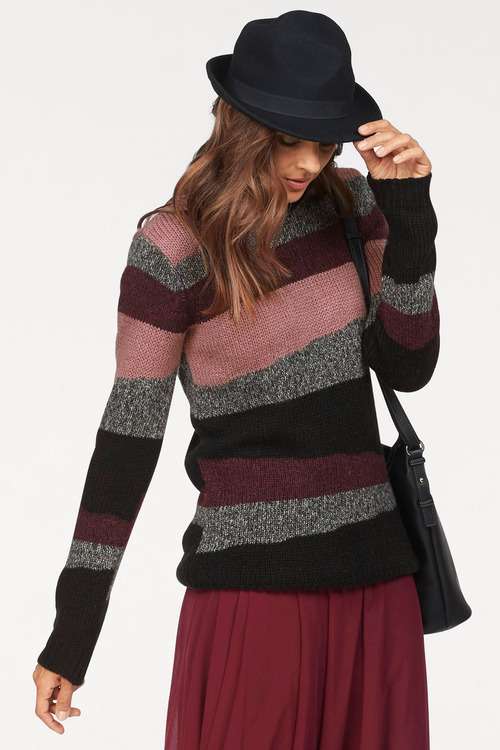 Urban Stripe Knit Pullover