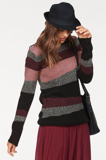 Urban Stripe Knit Pullover - 256040