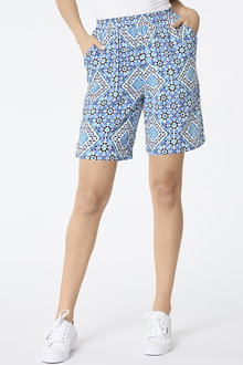Over The Knee Printed Short - 256041