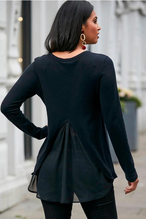 Urban Back Detail Knit Top