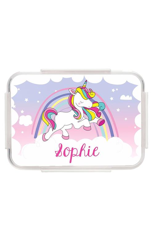 Personalised Unicorn Pink Bento Lunch Box