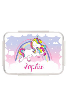 Personalised Unicorn Pink Bento Lunch Box - 256074
