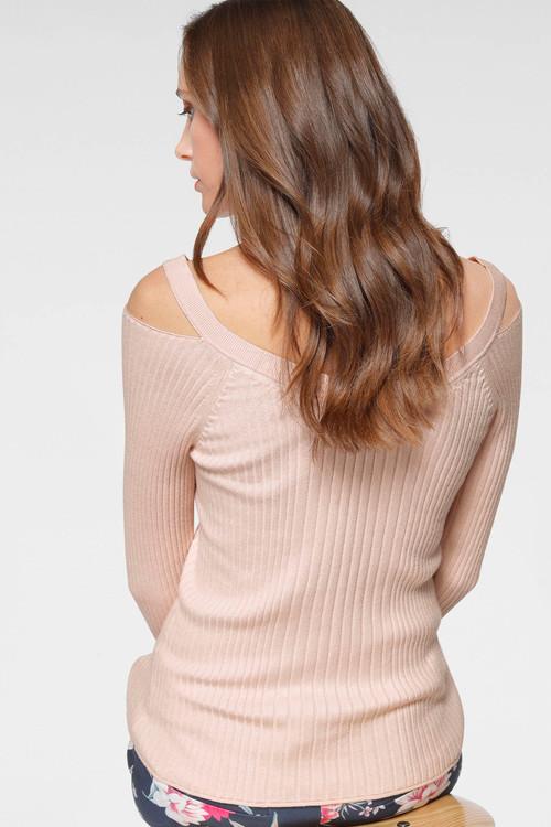 Urban Cold Shoulder Knit Top