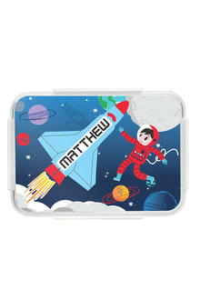 Personalised Rocket Blue Bento Lunch Box - 256080