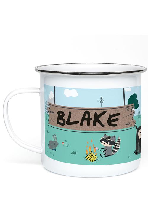 Personalised Woodland Enamel Mug