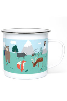 Personalised Woodland Enamel Mug - 256083