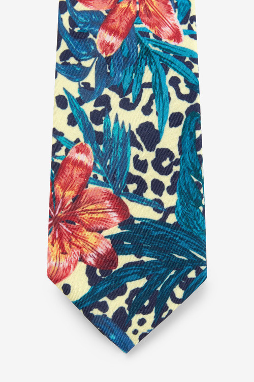 Next Tropical Print Tie