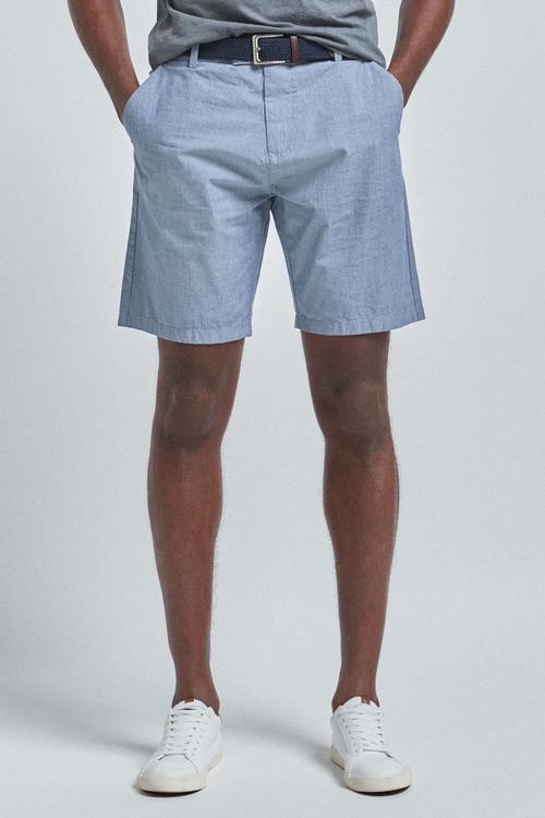 Next Fine Stripe Belted Shorts