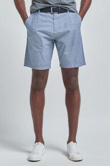 Next Fine Stripe Belted Shorts - 256100