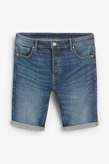 Next Vintage Wash Denim Shorts-Skinny Fit - 256102