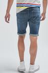 Next Vintage Wash Denim Shorts-Skinny Fit