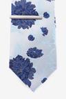 Next Pattern Tie With Tie Clip