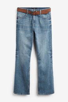 Next Belted Jeans With Stretch-Bootcut Fit - 256115