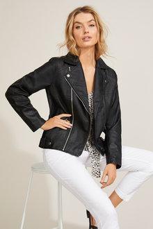Zip Biker Jacket - 256149