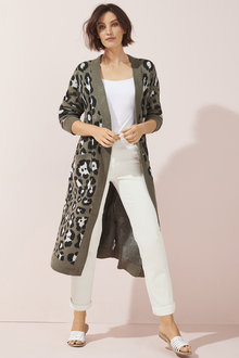 Long Animal Cardi - 256152