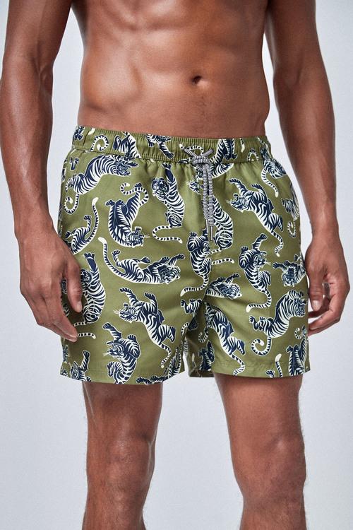 Next Tiger Print Swim Shorts