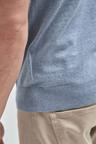 Next Marl Cotton Knitted Short Sleeve Poloshirt