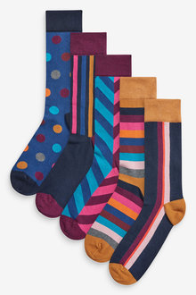 Next Geo Socks Five Pack - 256177