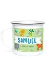 Personalised Safari Enamel Mug