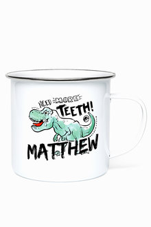 Personalised Jurasic Park Teeth Enamel Mug - 256186
