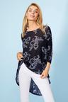 3Q Sleeve Hi-Lo Knit Top