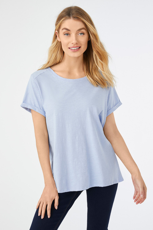 Short Sleeve Cotton Slub Tee