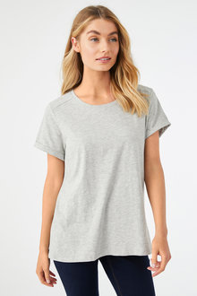 Short Sleeve Cotton Slub Tee - 256198