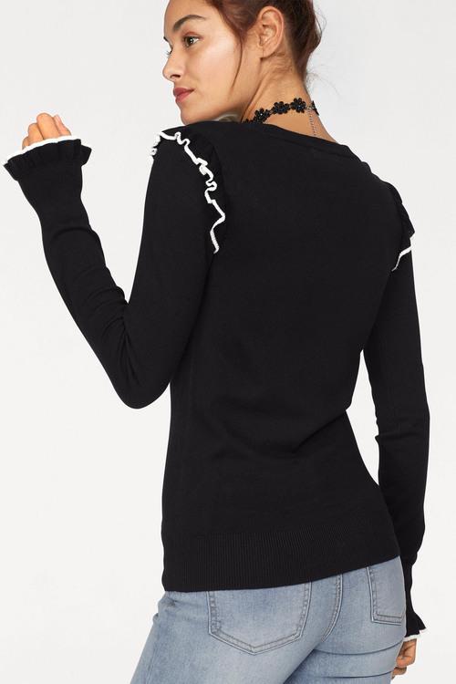 Urban Ruffle Detail Knit Top