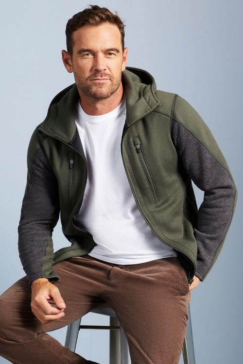 Isobar Zip Up Fleece Jacket