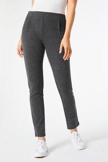 Pull On Slim Leg Ponte Pant - 256261