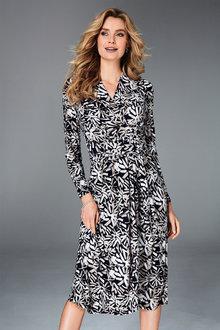 Kaleidoscope Knot Waist Dress - 256418