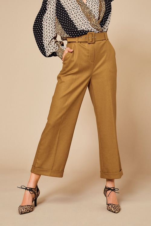 Kaleidoscope Belted Cuffed Pants