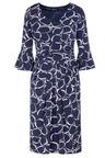 Kaleidoscope Printed Pleat Detail Dress