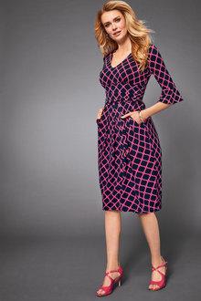 Kaleidoscope Printed Pleat Detail Dress - 256450