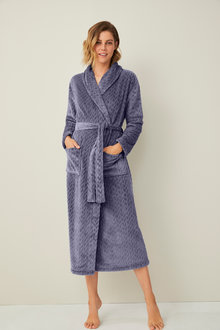 Mia Lucce Embossed Robe - 256509