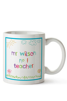 Personalised No. 1 Teacher Drawing Ceramic Mug - 256565
