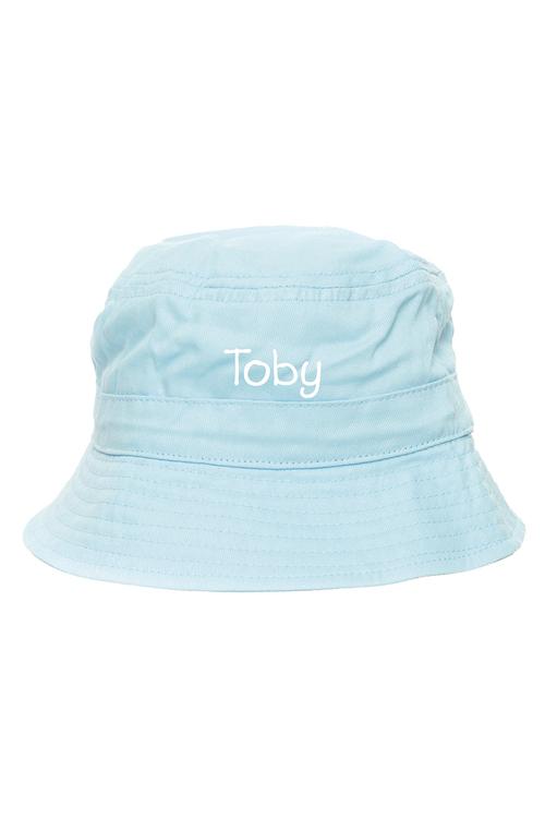 Personalised Bucket Hat Pale Blue