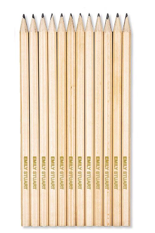 Personalised 12 Pack Lead Pencils