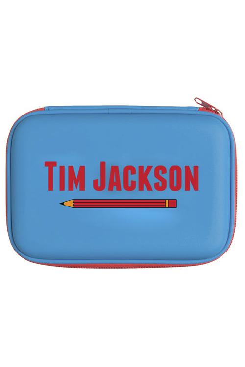 Personalised Blue Stationery Case Set