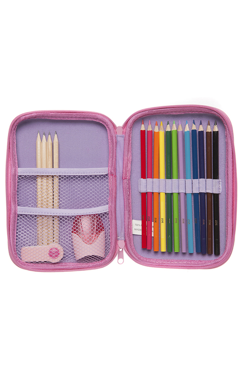 Personalised Lilac Stationery Case Set
