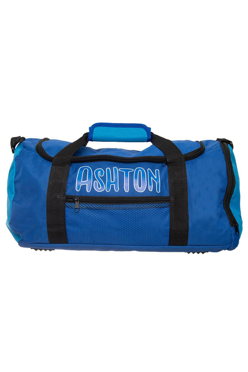 Personalised Navy & Blue Sports Bag