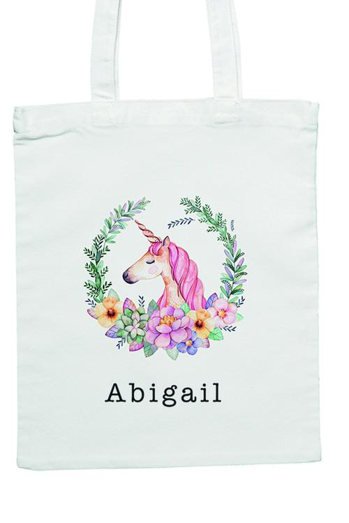 Personalised Unicorn Tote Bag