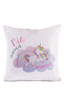 Personalised Unicorn Sequin Cushion Cover - 256589