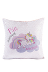 Personalised Unicorn Sequin Cushion Cover
